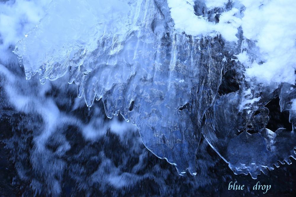 氷と水模様