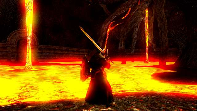 PC 版 DARK SOULS with ARTORIAS OF THE ABYSS EDITION(Prepare To Die Edition) DSfix スクリーンショット、エリア 混沌の廃都イザリス(Lost Izalith)