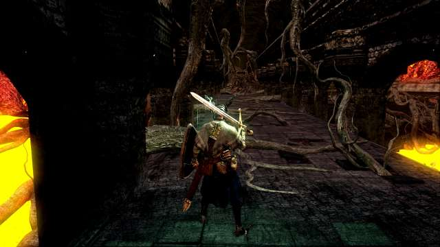PC 版 DARK SOULS with ARTORIAS OF THE ABYSS EDITION(Prepare To Die Edition) DSfix スクリーンショット、エリア 混沌の廃都イザリス(Lost Izalith) 楔のデーモン