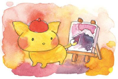 水彩画教室Pastel テルル2018