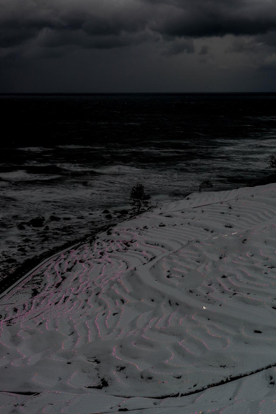 2018.01.13 雪の千枚田のイルミネーション 1