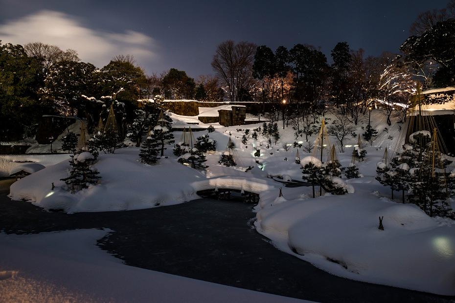 2018.02.08 玉泉院丸庭園のライトアップ 1