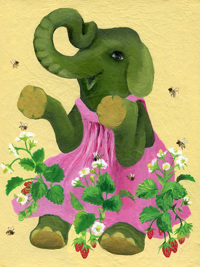 象とミツバチ