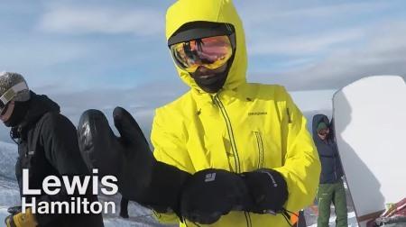 【動画】ハミルトンが日本・北海道でスノボ