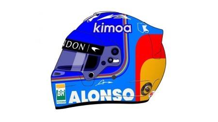 アロンソの2018ヘルメットデザイン