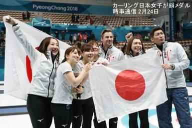 カーリング日本女子が銅メダル