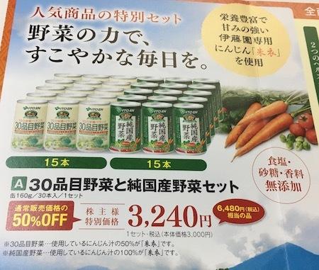伊藤園第1種優先株式 株主向け通信販売