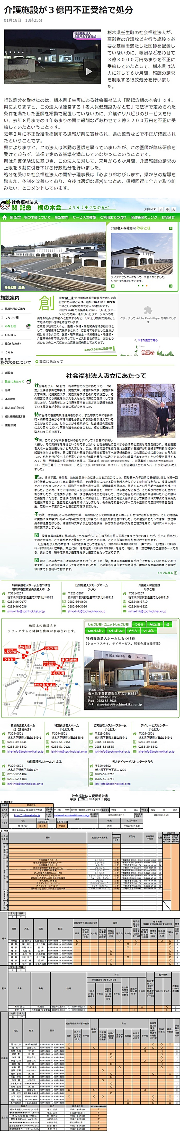社会福祉法人 関 記念 栃の木会