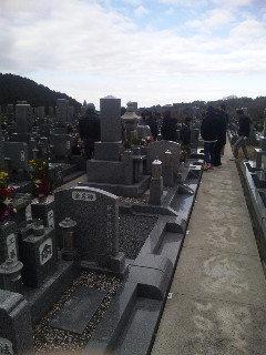 2日の墓参り