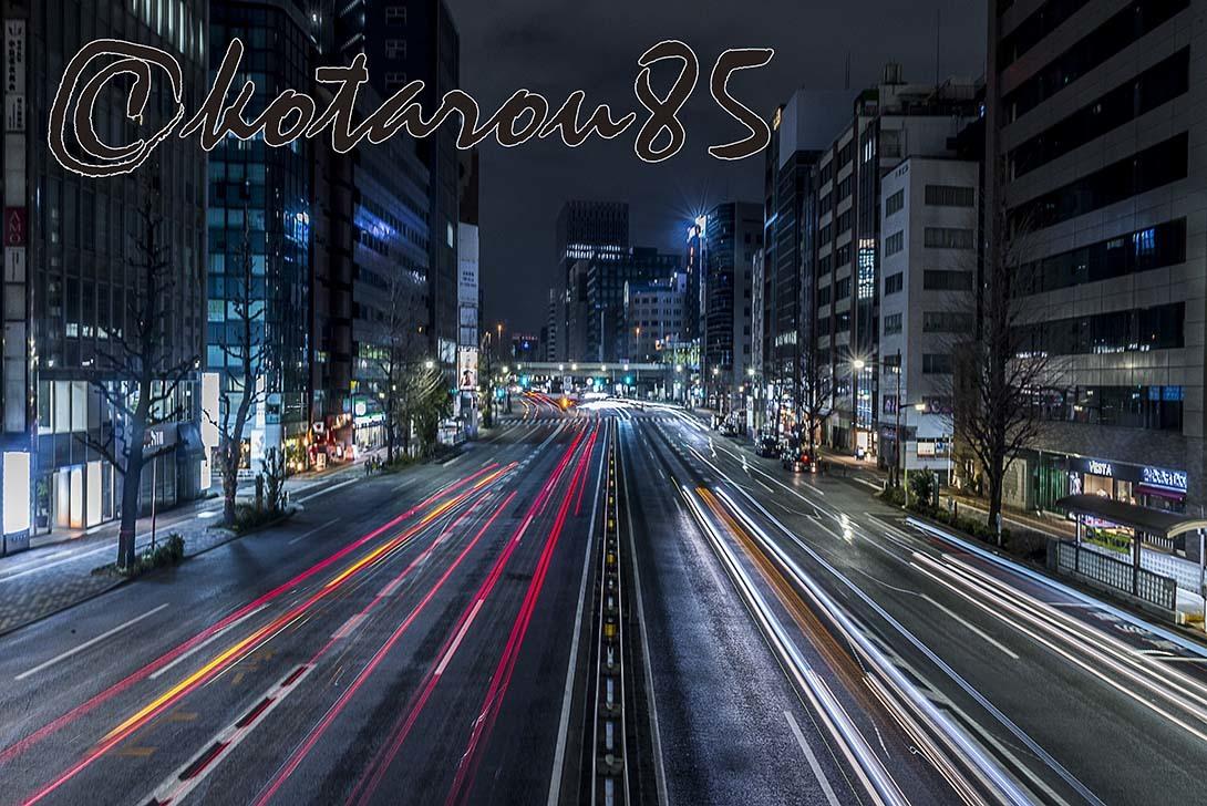 深夜の昭和通り 20180204