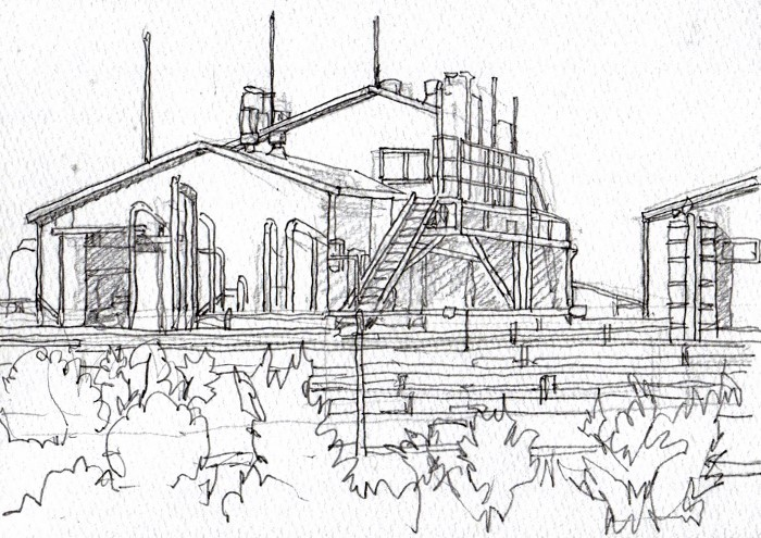 寝屋川の工場 デッサン (700x495)