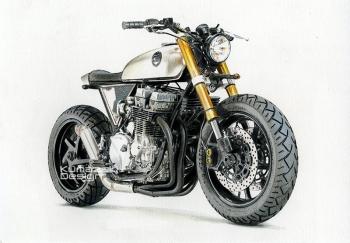 「バイクの絵」 Honda CB750 Nighthawk 色鉛筆画