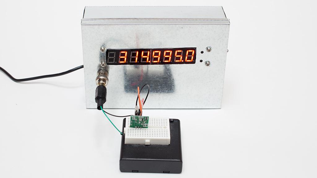 周波数カウンタ モジュール 8LED 0.1~60MHz 20MH