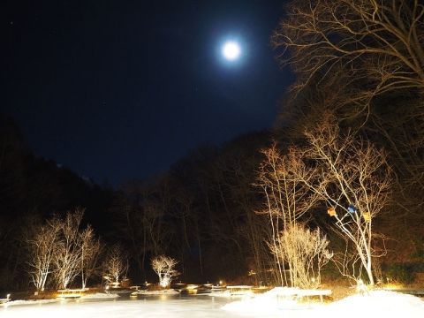 夜のスケートリンク171230