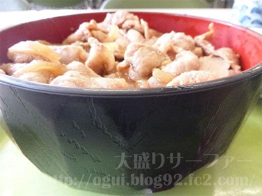横アングルで撮影した豚丼058