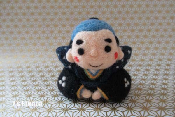 羊毛フェルトの福助人形♪