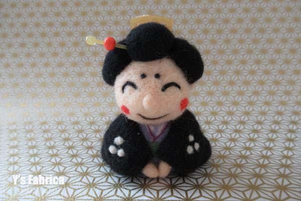 羊毛フェルトのお福人形♪