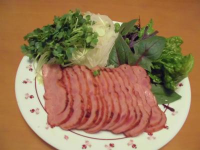 1.3焼豚と生野菜