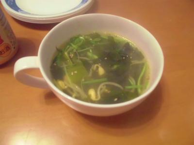 2.3ワカメとモヤシのスープ