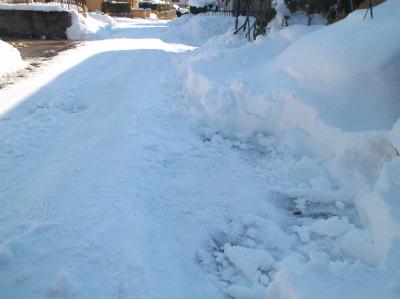2.9雪かき開始