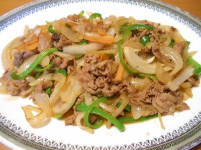 2.11牛肉と野菜の焼き肉のタレ炒め