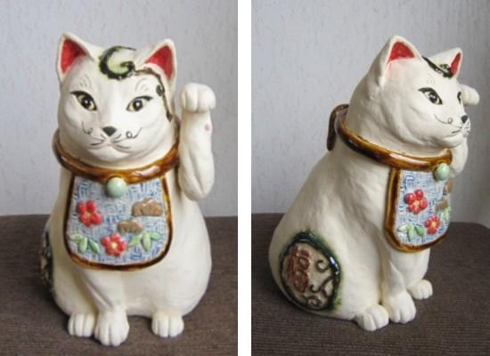 すず音窯の伝統まねき猫