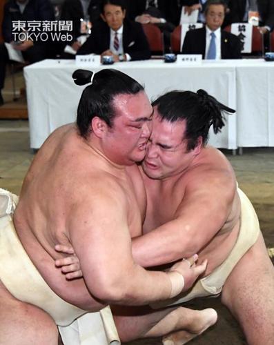 20180105 稽古総見 稀勢の里 東京新聞写真部