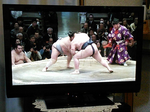 20180115 稀勢の里対北勝富士 踏込