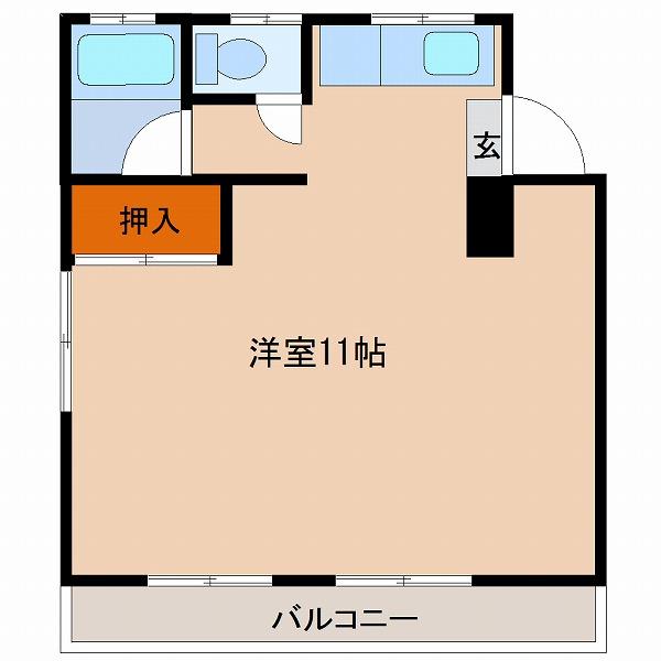 柳コーポ【1号室】