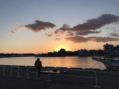 三崎港の夕陽