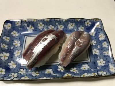 マイワシとカタクチイワシの握り寿司