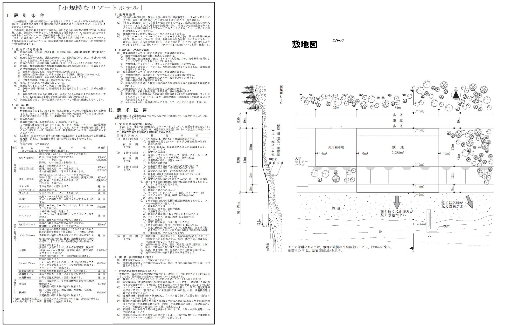 1 級 建築 士 製図