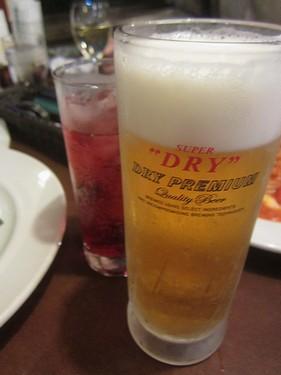 20180106 (5)ビール&カシスソーダ