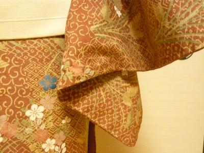 織の着物 染めの着物