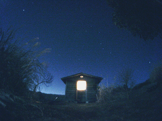 房総フィールド 小屋と北斗七星
