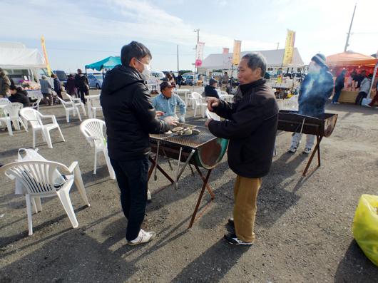 房総 大原漁港 港の朝市 浜焼き