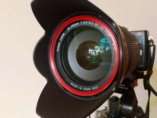 Sigma 18-250 F3.5-6.3 + ZEROPORT JAPAN 72mm ドレスアップフィルターレッド