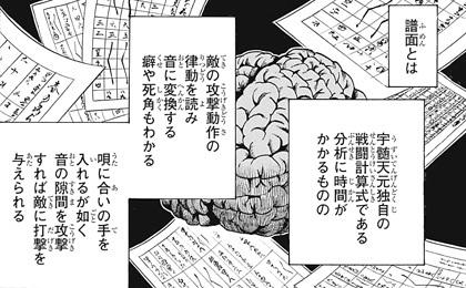 鬼滅の刃93話 譜面