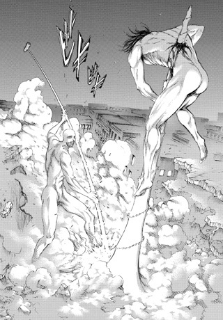 進撃の巨人101話raw 戦鎚の巨人の能力