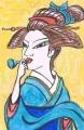 喜多川歌麿「ビードロを吹く娘