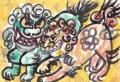 3狩野永徳唐獅子図 (1)