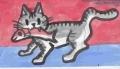 猫 (お魚銜えた虎猫3)