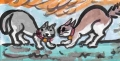 魔^・・^=)猫縄張り争い