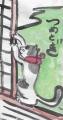 江戸猫迷画爪とぎ