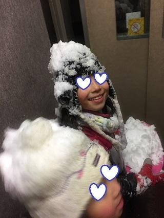 横浜で雪遊び
