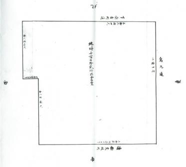 幕末中院家下屋敷の敷地図