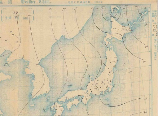 19071229天気図