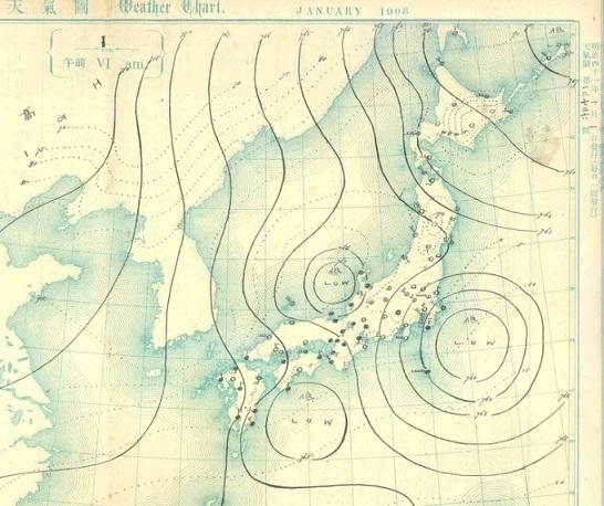 19080101天気図