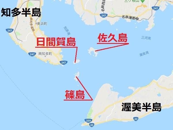 三河湾三島の地図