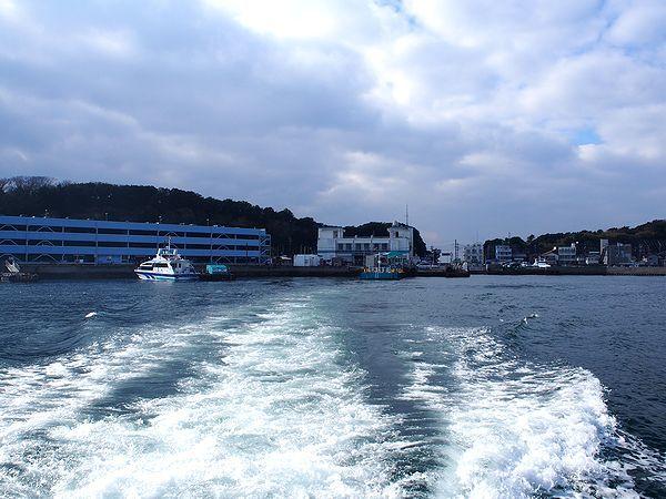 篠島に向けて出航